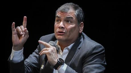 L'ancien président équatorien, Rafael Correa, le 22 octobre 2018, à Bruxelles, en Belgique (image d'illustration).