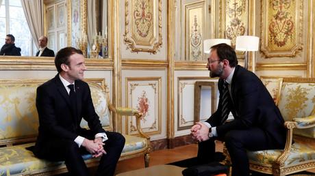 Emmanuel Macron s'entretient avec le centriste Patrick Mignola à l'Elysée. (5 février 2019, image d'illustration).