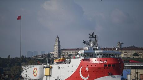 Le navire de prospection marine Oruç Reis, le 23 août 2019 au port d'Haydarpasa.