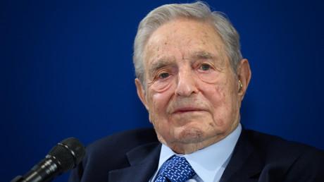 George Soros au Forum de Davos, le 23 janvier 2020, en Suisse (image d'illustration).