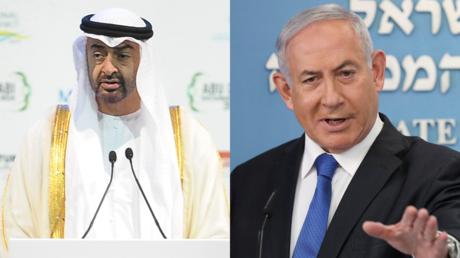 Le prince héritier d'Abou Dabi Mohammed ben Zayed Al Nahyane et le Premier ministre israélien Benjamin Benyamin Netanyahou (image d'illustration).