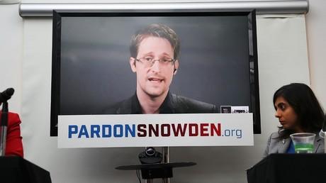 Cliché pris le 14 septembre 2016, lors d'une vidéoconférence d'Edward Snowden, à New York, Etats-Unis (image d'illustration).