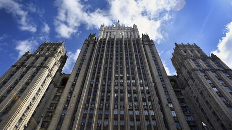Une vue prise le 31 juillet 2017 montre le bâtiment principal du ministère russe des Affaires étrangères à Moscou (image d'illustration).