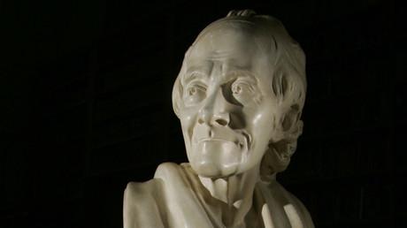 Buste de Voltaire appartenant à la maison française de Oxford (image d'illustration).