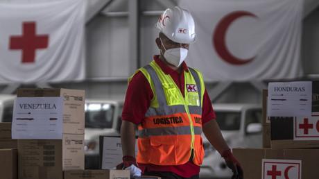 Un membre du Comité international de la Croix-Rouge au Panama en avril 2020 (image d'illustration).