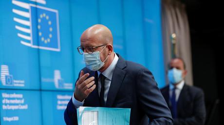 Le président du Conseil européen, Charles Michel, le 19 août 2020 à Bruxelles.