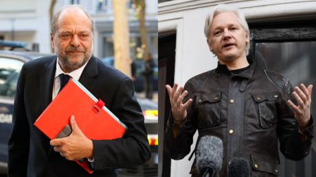 Montage photos : Eric Dupond-Moretti et Julian Assange. (illustration)