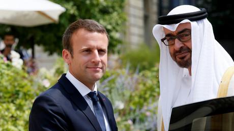 Le président français Emmanuel Macron et le prince héritiers des Emirats arabes unis, Mohammed ben Zayed, le 21 juin 2017 à l'Elysée (image d'illustration).