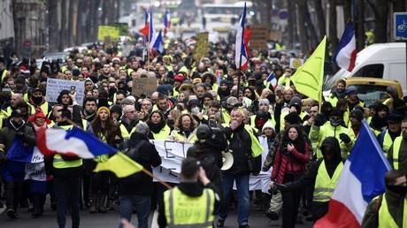 Une manifestation de Gilets jaunes, le 29 décembre 2018, à Paris (image d'illustration).