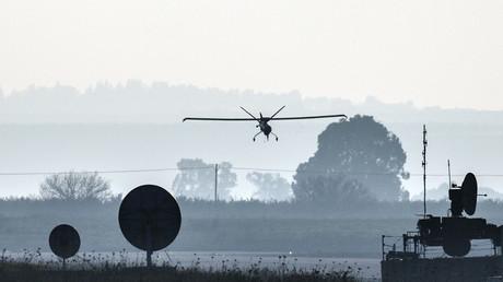 Un drone israélien déployé sur le plateau du Golan le 20 janvier 2015 (image d'illustration)