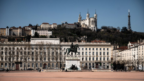 La place Bellecour, dans le centre de Lyon. (Image d'illustration)