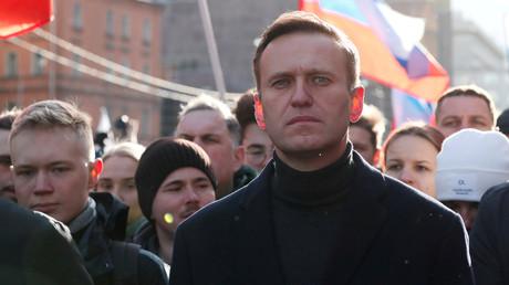 Alexeï Navalny, le 29 février 2020, lors d'une manifestation à Moscou (image d'illustration).