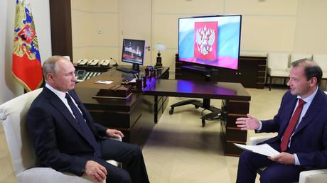 Vladimir Poutine interviewé pour la chaîne russe Rossia24 le 27 août 2020.
