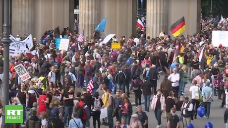 Berlin : nouvelle manifestation contre les mesures restrictives anti-Covid
