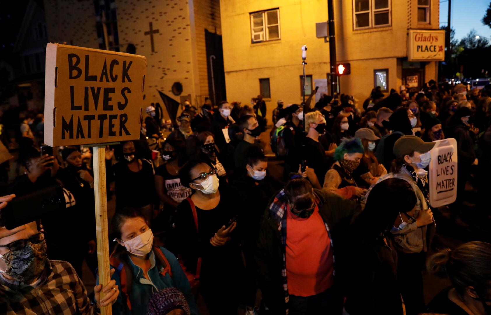 Manifestation de Black Lives Matter à Rochester, aux Etats-Unis.