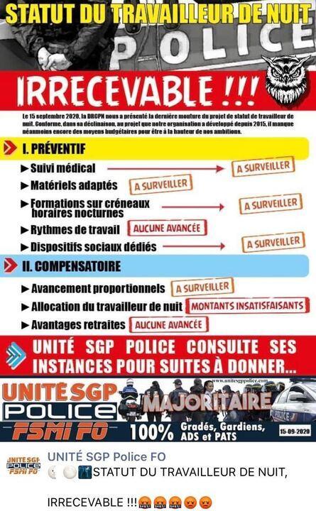 Police : après une réunion infructueuse, les travailleurs de nuit manifestent à Paris