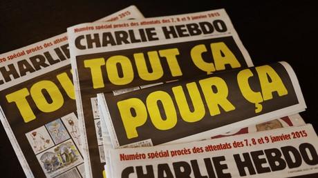 «Tout ça pour ça». La une du dernier Charlie Hebdo reproduit une caricature du prophète Mahomet signée par son dessinateur Cabu, assassiné dans l'attentat du 7 janvier 2015.