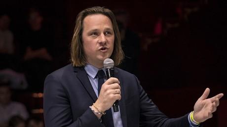 Geoffroy Lejeune, le 25 avril 2019, à Paris (image d'illustration).