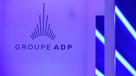 Le logo d'ADP, le 20 mai 2019, à Paris (image d'illustration).