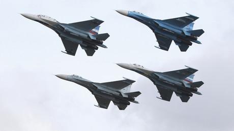 Des Soukhoï Su-27 de l'armée russe, le 25 septembre 2013 à Nijni Taguil, en Russie (image d'illustration)