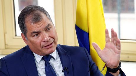 Rafael Correa durant une interview accordée à Reuters le 8 octobre 2019 (image d'illustration).