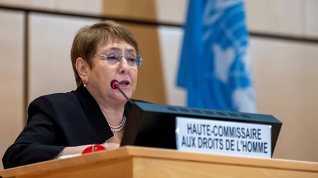 Michelle Bachelet, le 17 juin 2020, à Genève, en Suisse (image d'illustration).