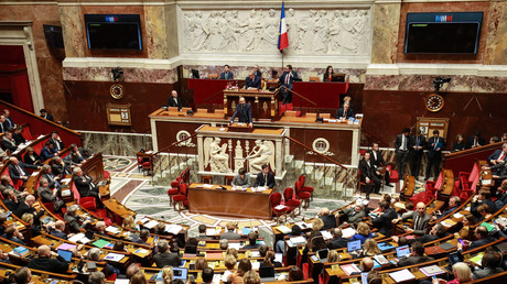 L'Assemblée nationale durant une scéance de question au gouvernement le 31 mars 2020. (Image d'illustration)