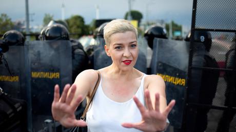 L'une des figures phares de la contestation au Bélarus Maria Kolesnikova