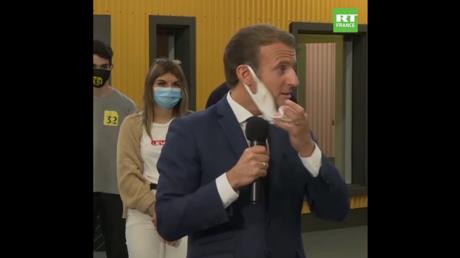 Emmanuel Macron, le 8 septembre 2020, à Clermont-Ferrand.
