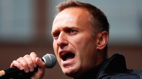 Alexeï Navalny lors d'une manifestation de l'opposition russe le 29 septembre 2019 à Moscou  (image d'illustration)