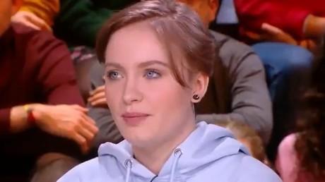 Mila, le 3 février 2020 sur le plateau du talk-show Quotidien (TMC). (image d'illustration).