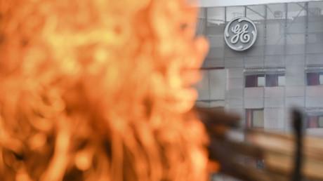 Mouvement social devant l'usine de Général Electric Belfort le 19 octobre 2019. (Image d'illustration)