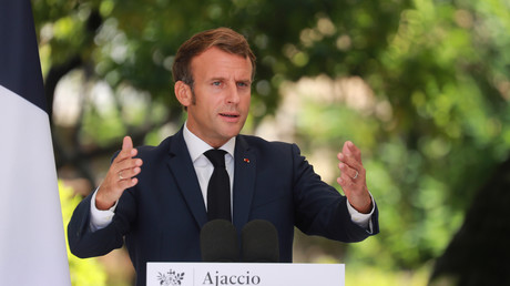 Le président français Emmanuel Macron, le 10 septembre 2020, à Ajaccio.
