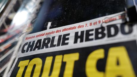 Aperçu de la couverture de l'hebdomadaire Charlie Hebdo, à l'occasion de l'ouverture du procès de l'attentat de janvier 2015 (image d'illustration).