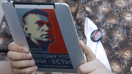 Portait d'Alexeï Navalny lors d'une manifestation à Moscou en 2012 (image d'illustration).