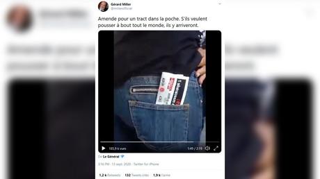 Une femme aurait été verbalisée pour avoir porté un tract dans sa poche arrière lors de la manifestation es gilets jaunes le 12 septembre.
