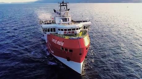 L'Oruc Reis, le 12 août 2020, en mer Méditerranée (image d'illustration).