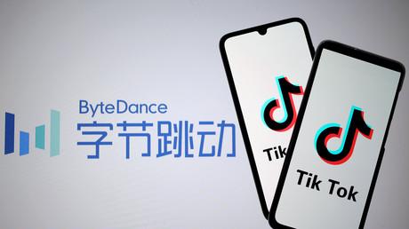 Les logos de l'application TikTok et de sa maison-mère ByteDance.