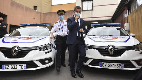 Gérald Darmanin en compagnie de Didier Lallement à Choisy-Le-Roy lors d'une opération contre le trafic de stupéfiant le 1er septembre 2020 (image d'illustration).