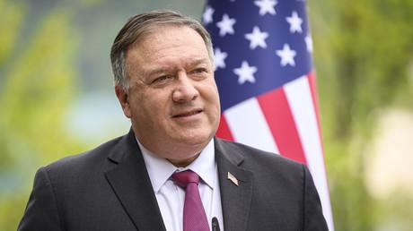 Le 13 août 2020, le secrétaire d'Etat américain Mike Pompeo s'exprime lors d'une conférence de presse conjointe avec le Premier ministre slovène après leur rencontre à Bled (image d'illustration).