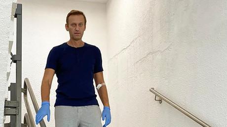 Alexeï Navalny à l'hôpital de la Charité à Berlin.