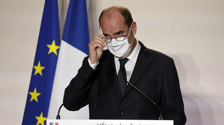 Jean Castex en conférence de presse, le 25 septembre 2020 à Pantin (image d'illustration)