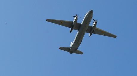 Un avion de transport de type Antonov-26 lors d'une parade militaire à Kiev (Ukraine) en août 2018 (image d'illustration).