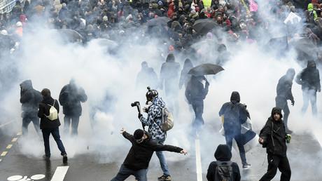 Echauffourées durant une manifestation contre la réforme des retraites à Nantes, le 9 janvier. (Image d'illustration)