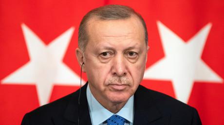 Le président turc Recep Tayyip Erdogan à Moscou en mars (image d'illustration).
