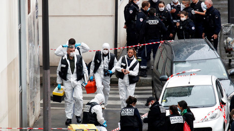 La police intervient, le 25 septembre 2020, après l'attaque au hachoir survenue à proximité de la rédaction de Charlie Hebdo (image d'illustration).