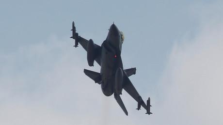 Un chasseur F-16 de l'armée de l'air turque en 2015 (Image d'illustration).