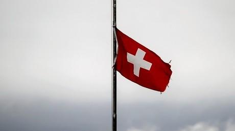 Le drapeau suisse. (Image d'illustration).