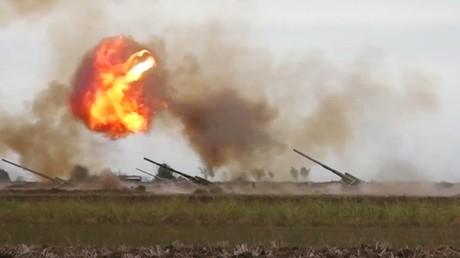 Les forces armées azerbaïdjanaises en action dans le Haut-Karabagh, le 28 septembre 2020 (image d'illustration).