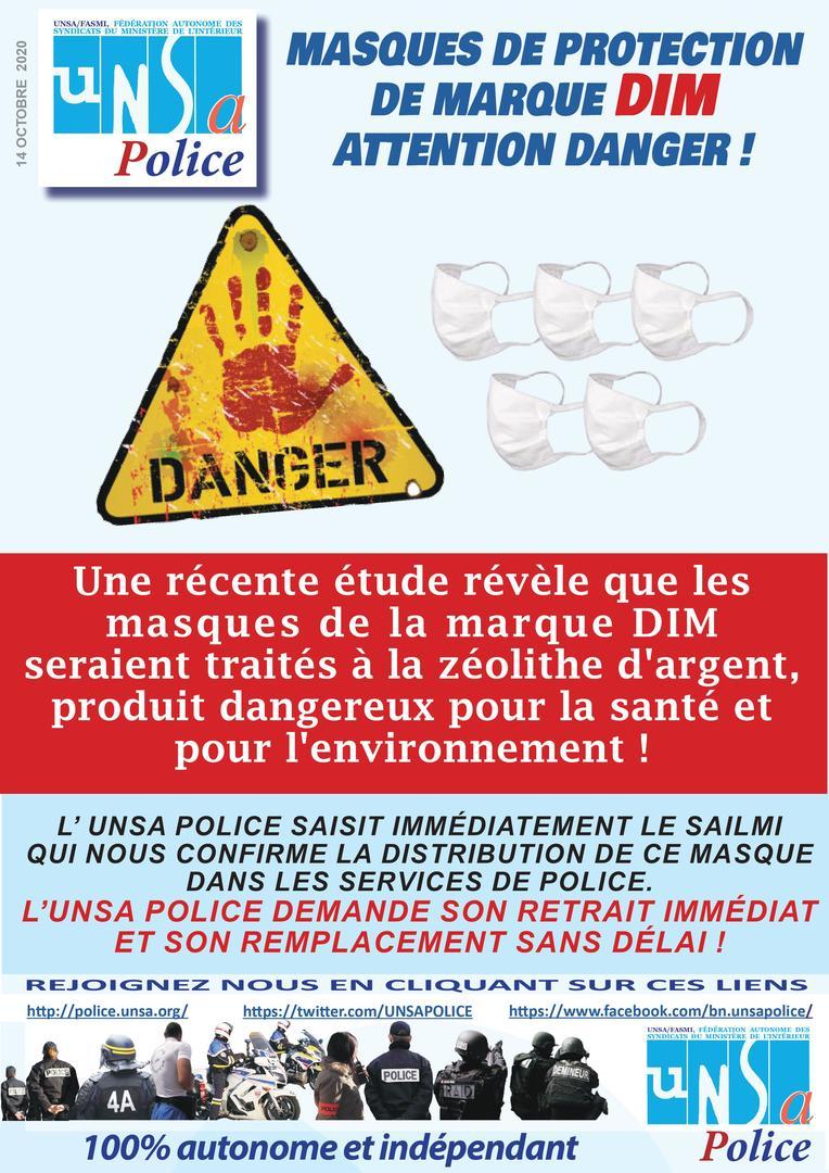 L'Etat demanderait à ses fonctionnaires de ne plus porter les masques DIM potentiellement toxiques